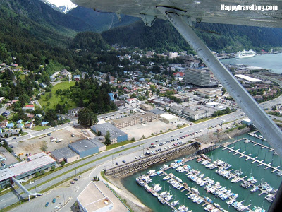 View of Juneau from a float plane