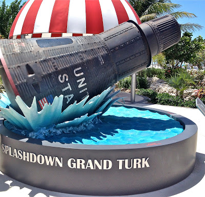 Replica of Mercury Capsule Splashdown at Grand Turk