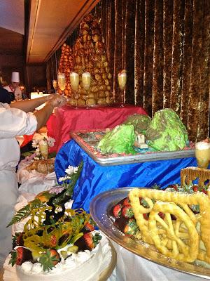 dessert buffet server