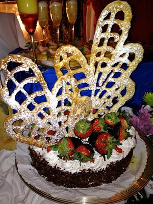 Elaborately decorated cake