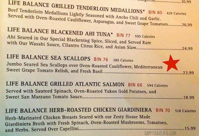 Cooper's Hawk menu
