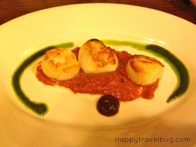 Scallops from Rose and Crown in Epcot's England