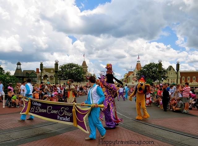 Celebrate a Dream Come True Parade at Disney World