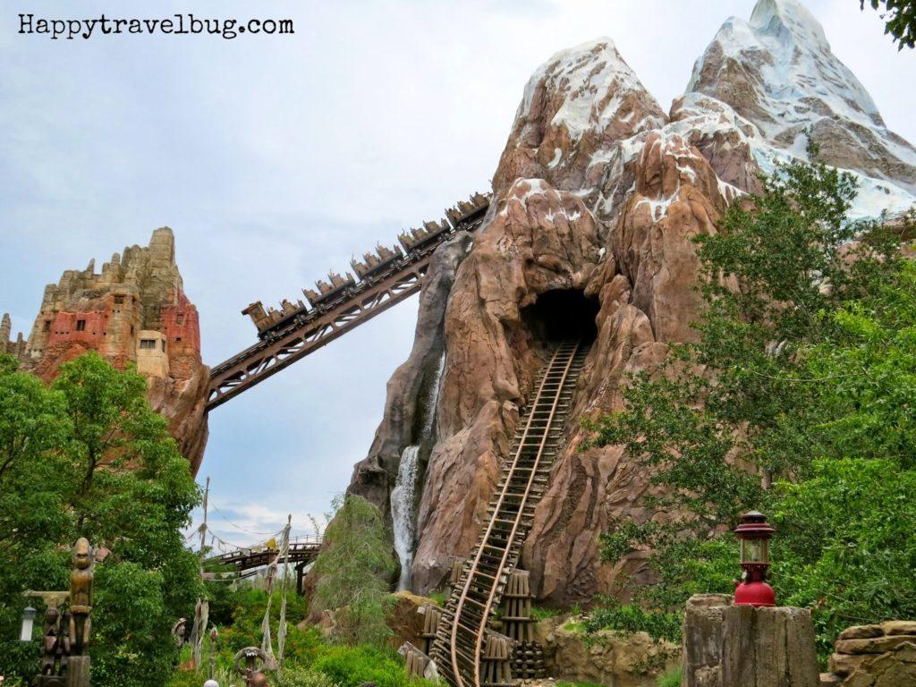 Mt. Everest roller coaster at Animal Kingdom in Disney World