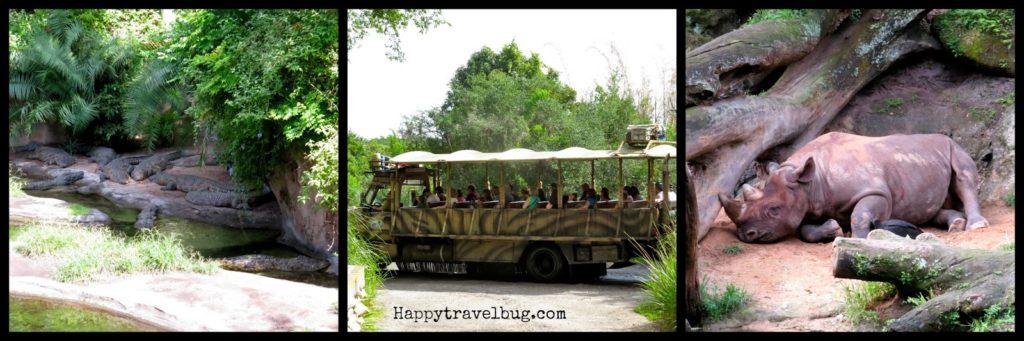 Kilimanjaro safari ride at Animal Kingdom in Disney World