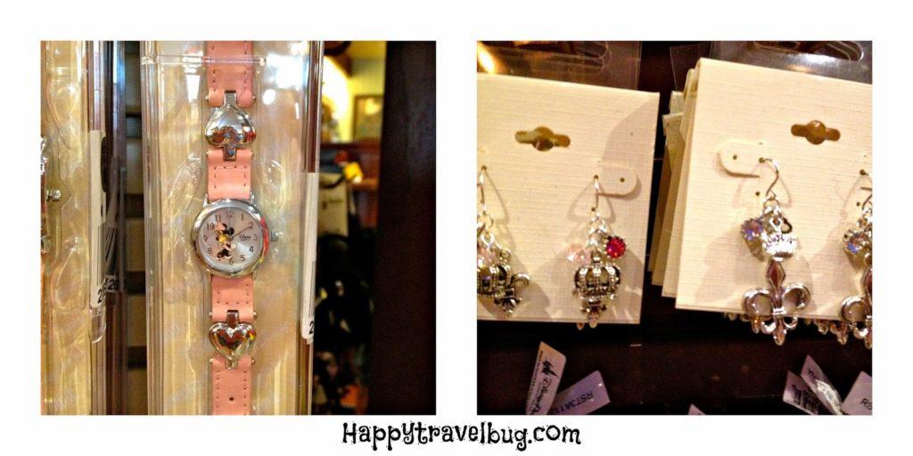Disney watch and earrings