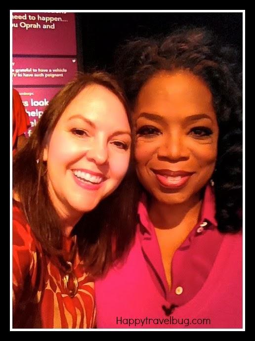 Me (happytravelbug.com) and Oprah at Harpo Studios