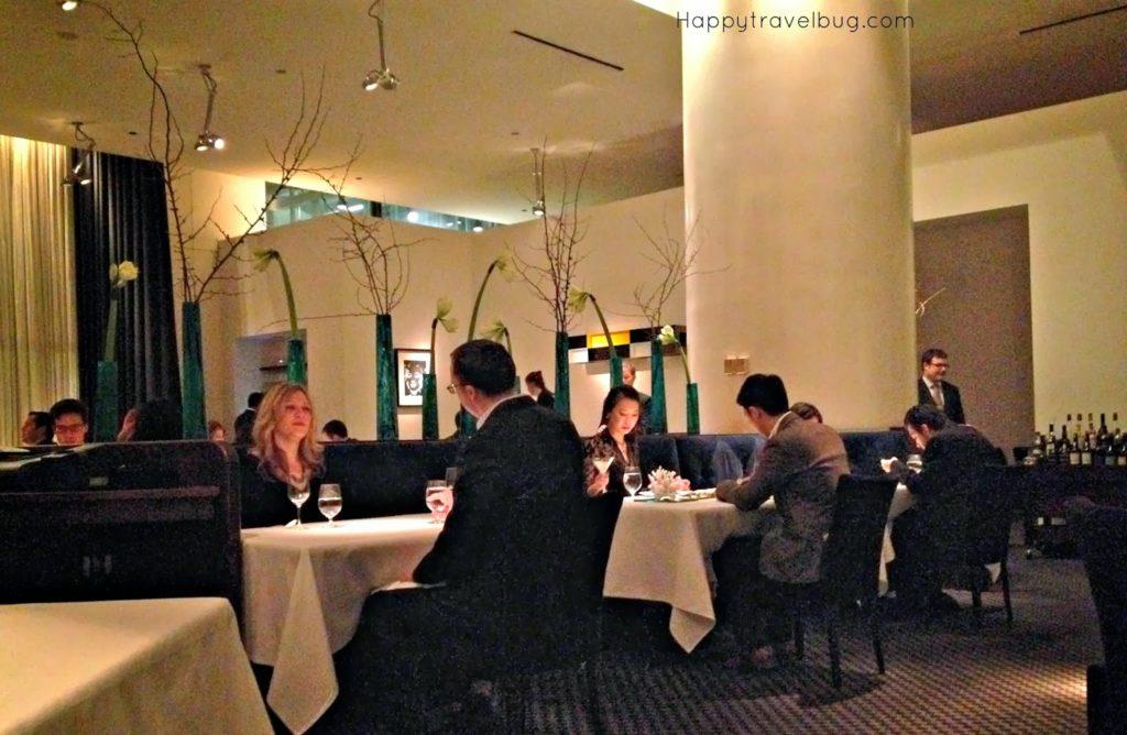 The inside of TRU restaurant in Chicago