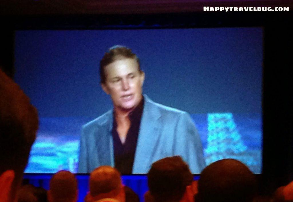 Bruce Jenner speaking in Las Vegas