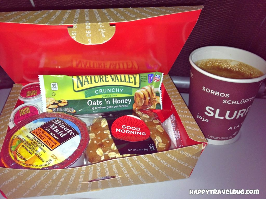 My breakfast on virgin Atlantic airlines