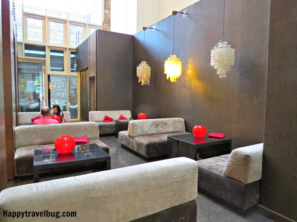 Lobby area with sofas