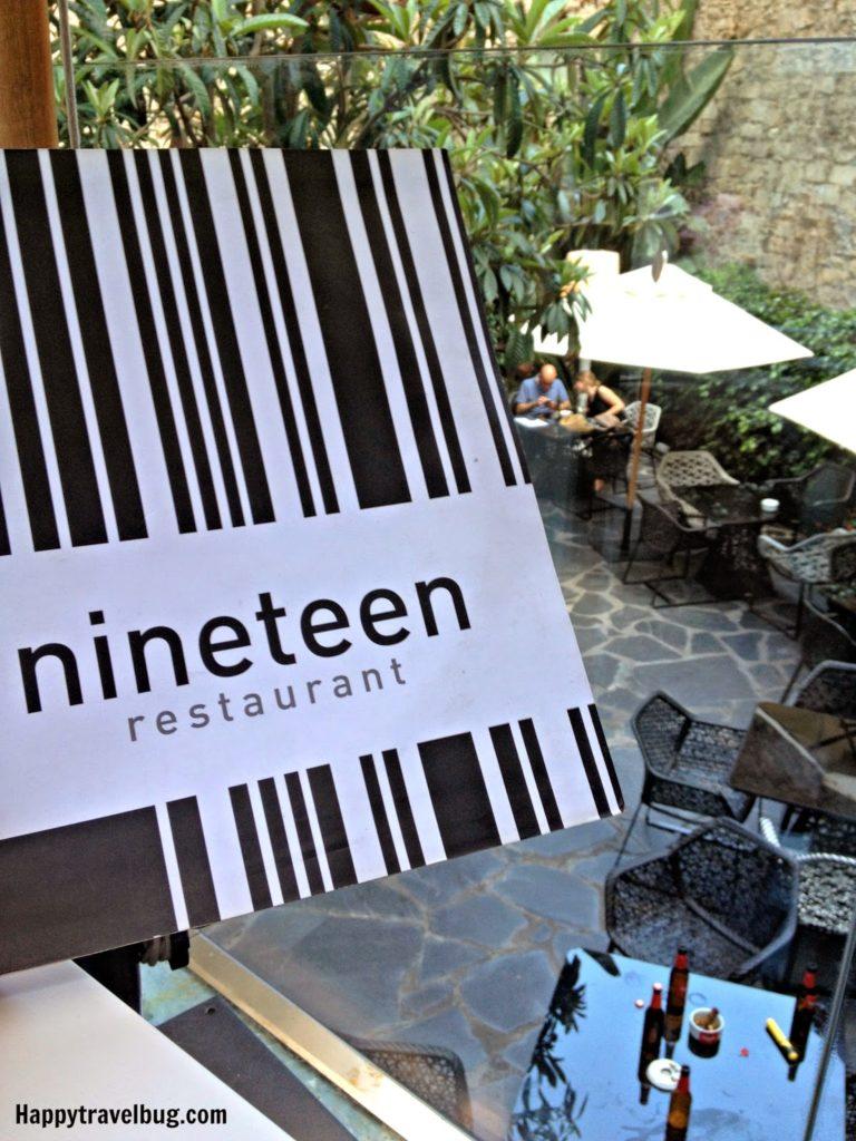 Nineteen restaurant at Olivia Plaza Hotel in Barcelona, Spain