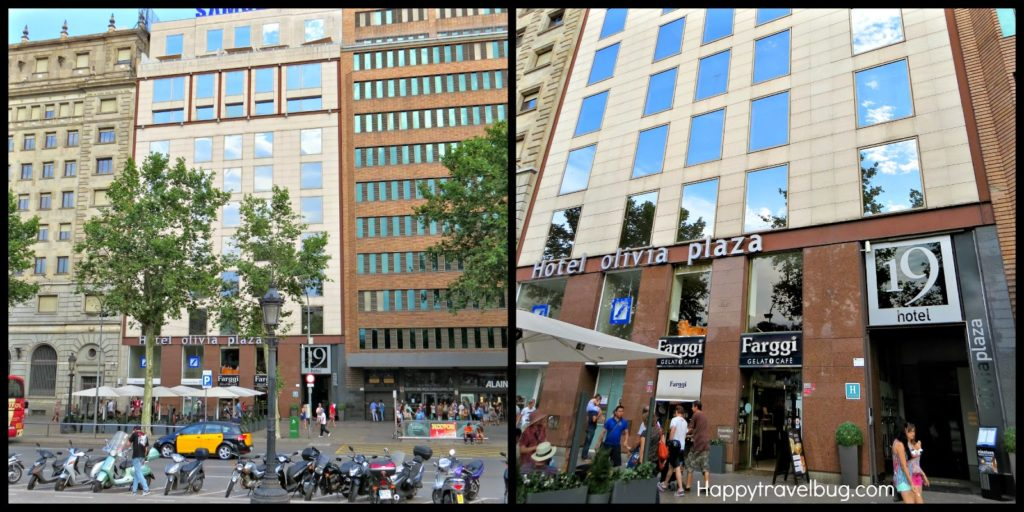 Exterior of Olivia Plaza Hotel in Barcelona, Spain