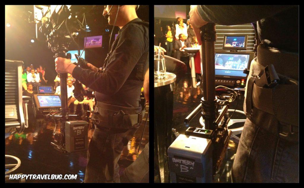 Cameraman at the taping of Oprah's Lifeclass