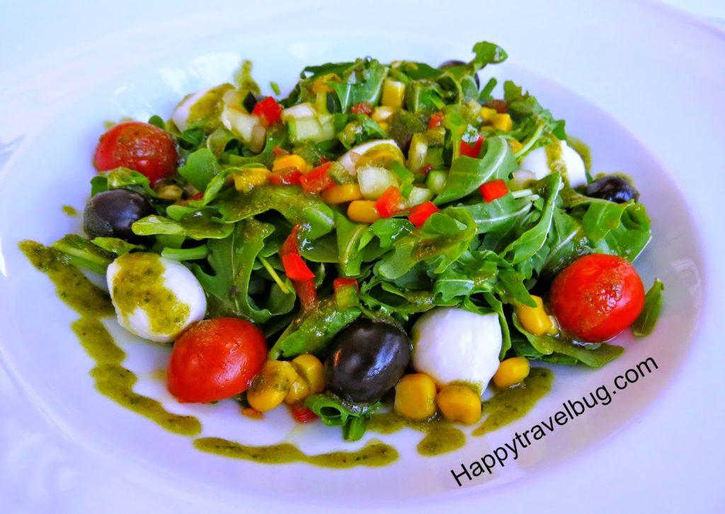 Salad from Restaurant Catalunya in Barcelona, Spain