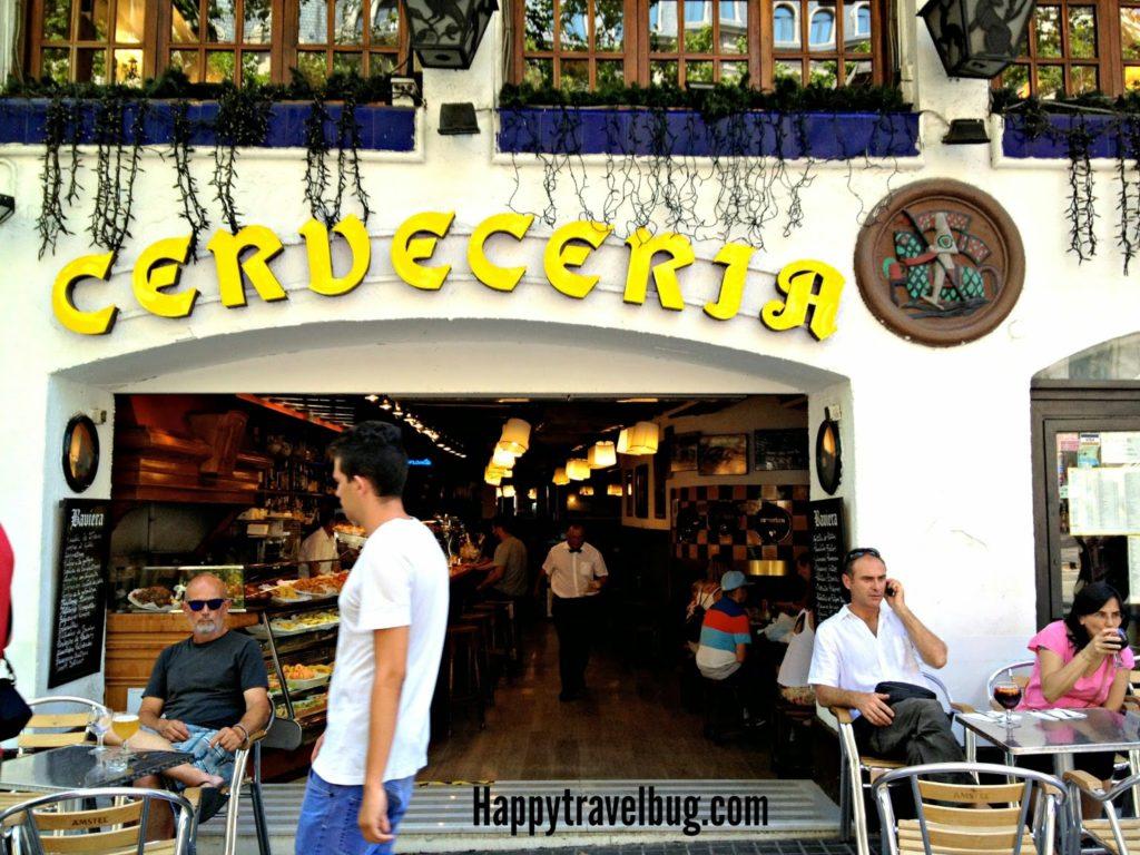 Cerveceria on las Ramblas in Barcelona, Spain