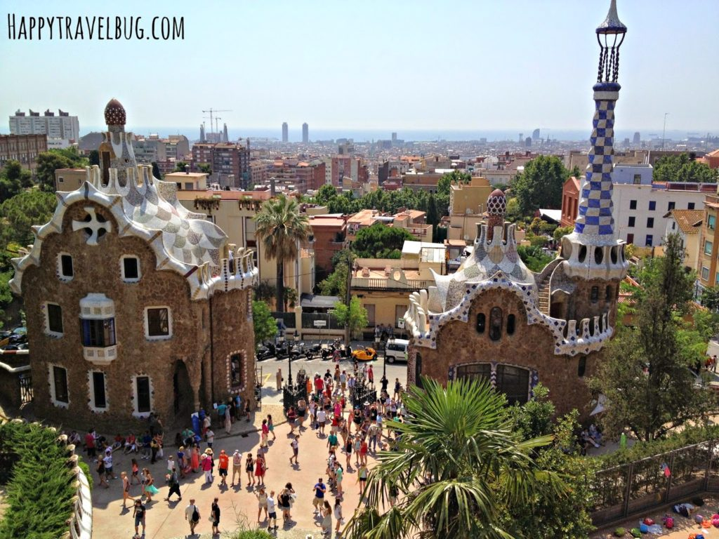 Park Guell in Barcelona, Spain
