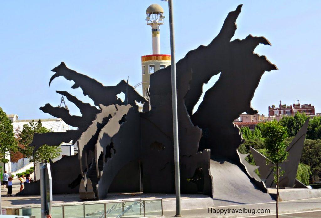 Sculpture playground in Barcelona, Spain