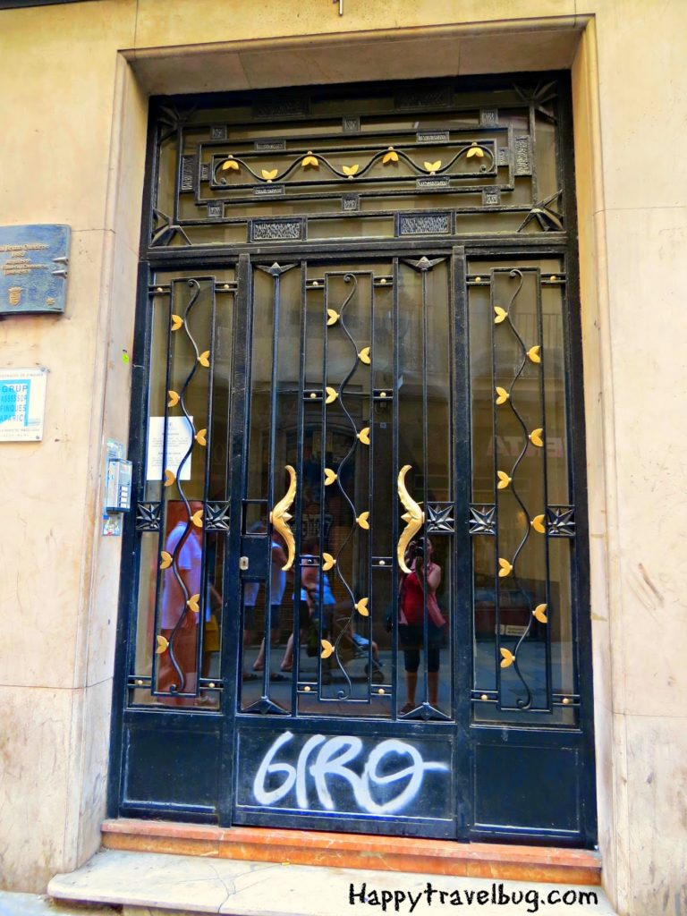 Metal door with hearts in Barcelona, Spain