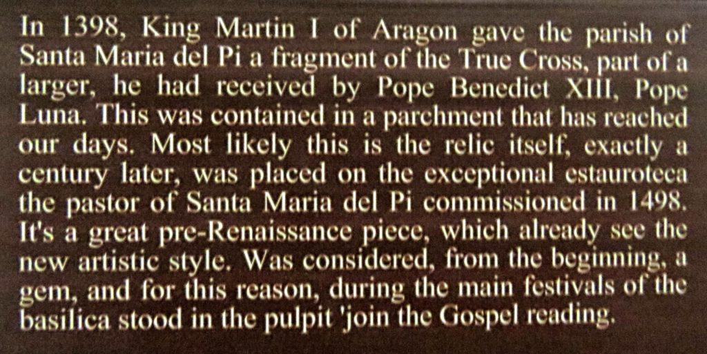 Religious information from The Basilica Santa Maria del Pi