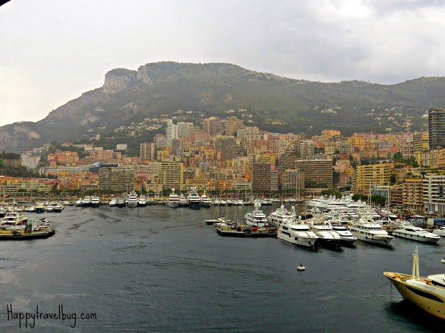 Monaco as seen from our ship's balcony