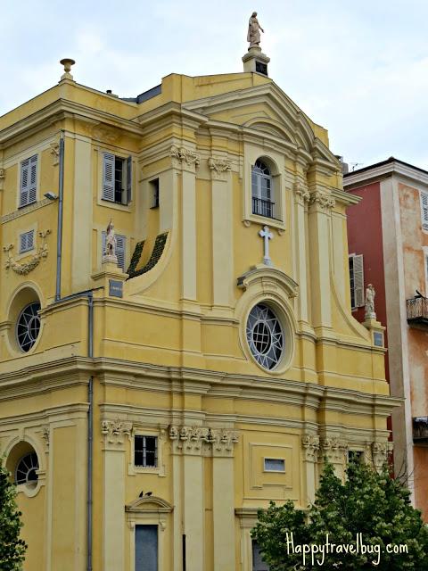 Yellow church in Nice, France