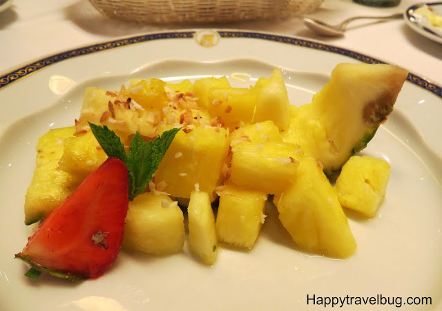 Pineapple boat on Holland America Cruise