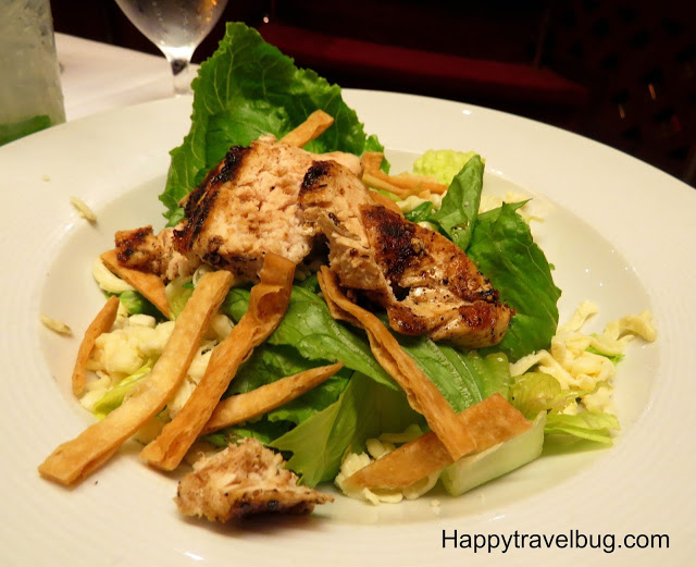 Cajun chicken Caesar salad on Holland America Cruise