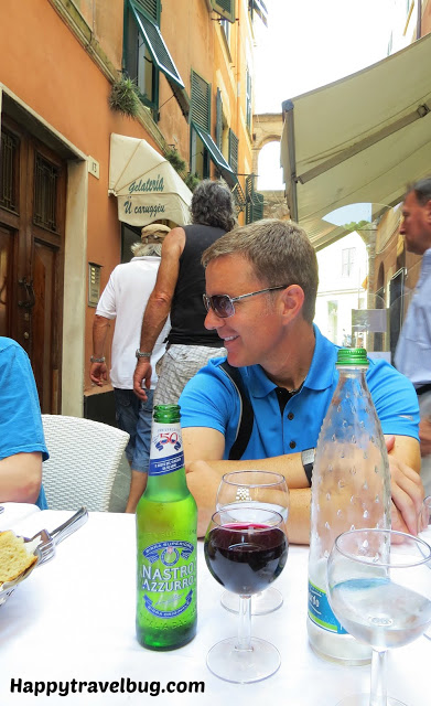 Lunch in Italy with my husband