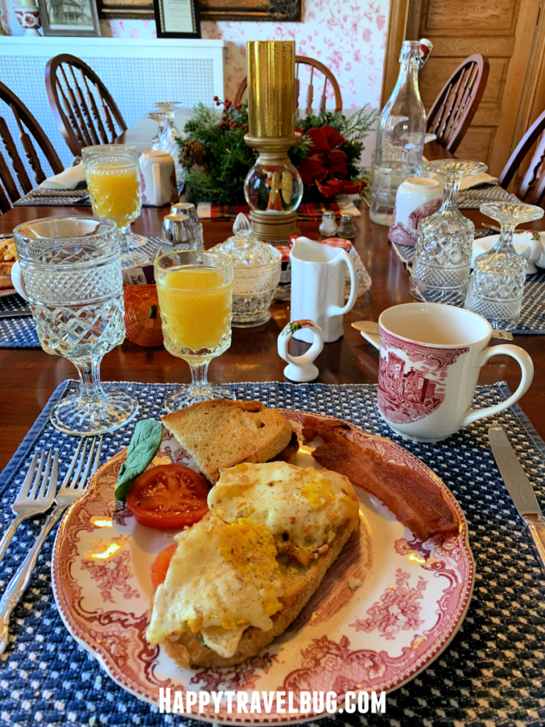 The second breakfast course served at the Harrison House Bed and Breakfast in Naperville, IL