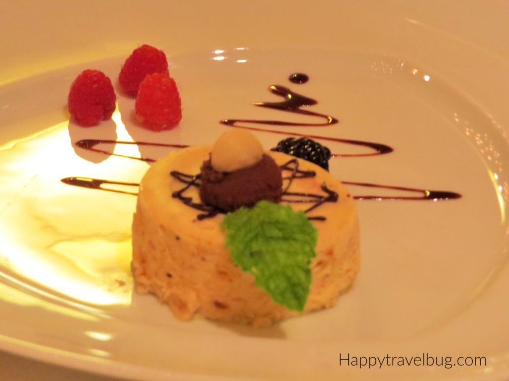 Cheesecake from the Pinnacle Grill on Holland America Cruise Line