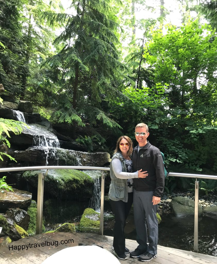 Todd and I visiting Cliffwalk at Capilano Suspension Bridge Park in Vancouver, Canada