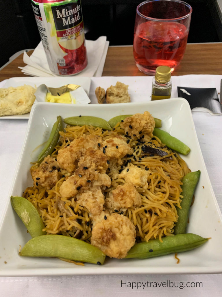 Chow mein noodles with fried cauliflower