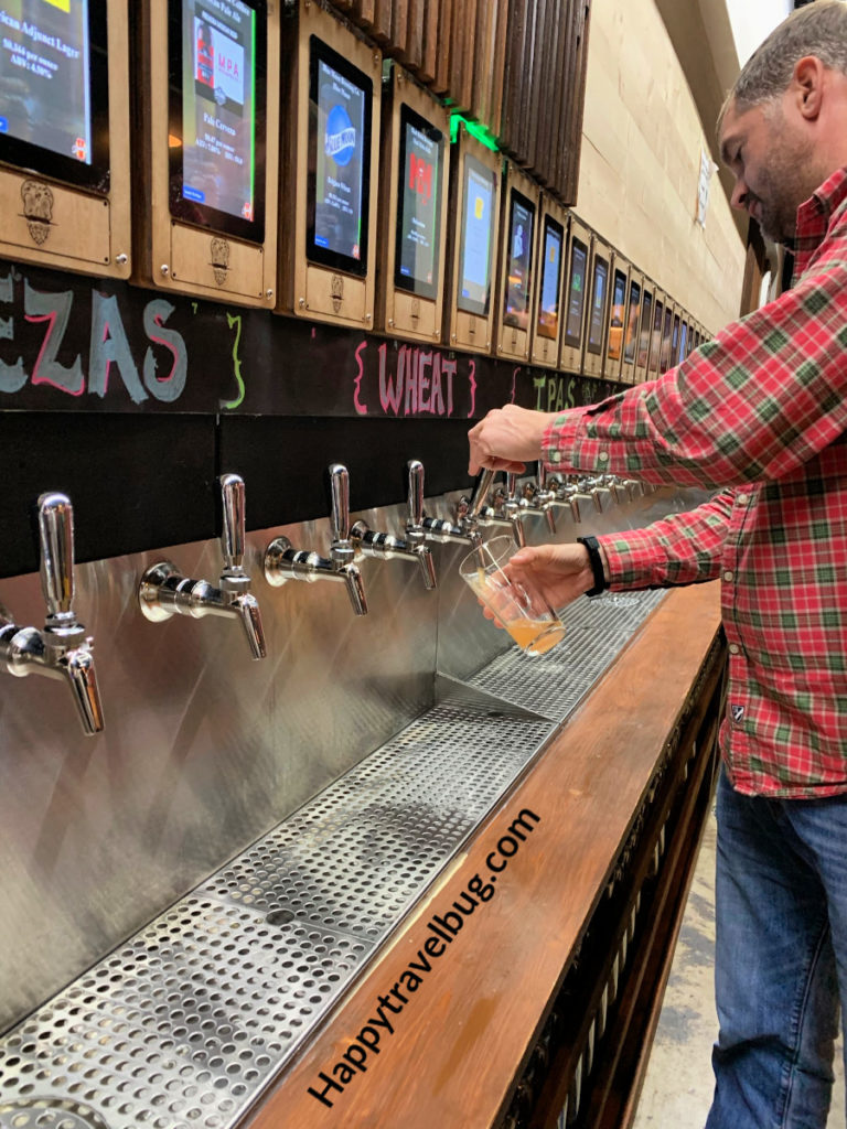 Lots of beer on tap