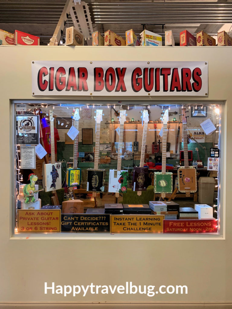 cigar box guitar store window