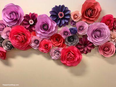 Paper flower art