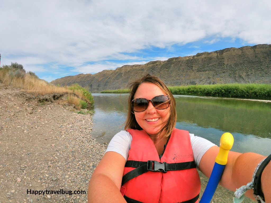 woman in front of the Missouri River