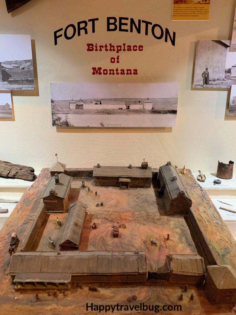Replica of Old Fort Benton, Montana