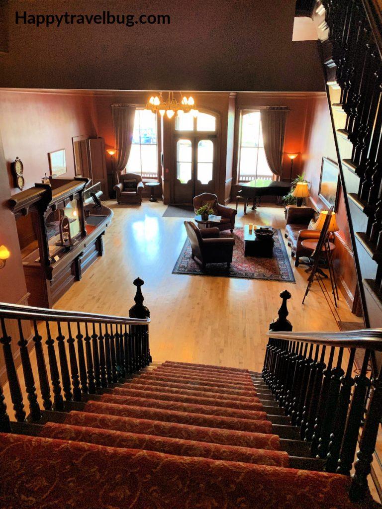 Historic hotel lobby