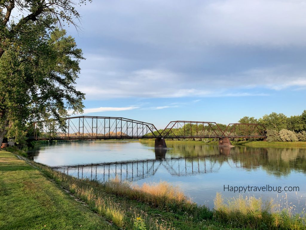 Historic bridge over the Missouri River