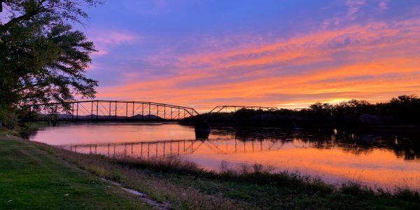 Sunrise over the Missouri River