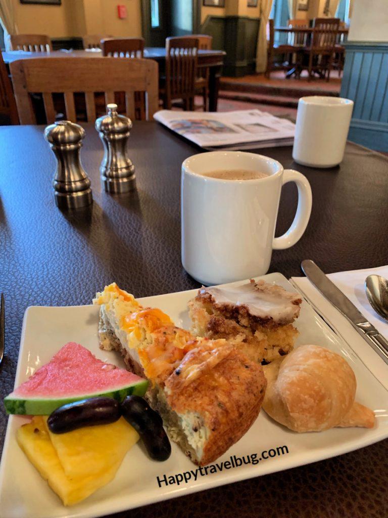 Breakfast food on a plate